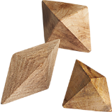set of 3 wood shapes