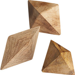 wood shapes set of three