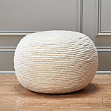wool wrap pouf