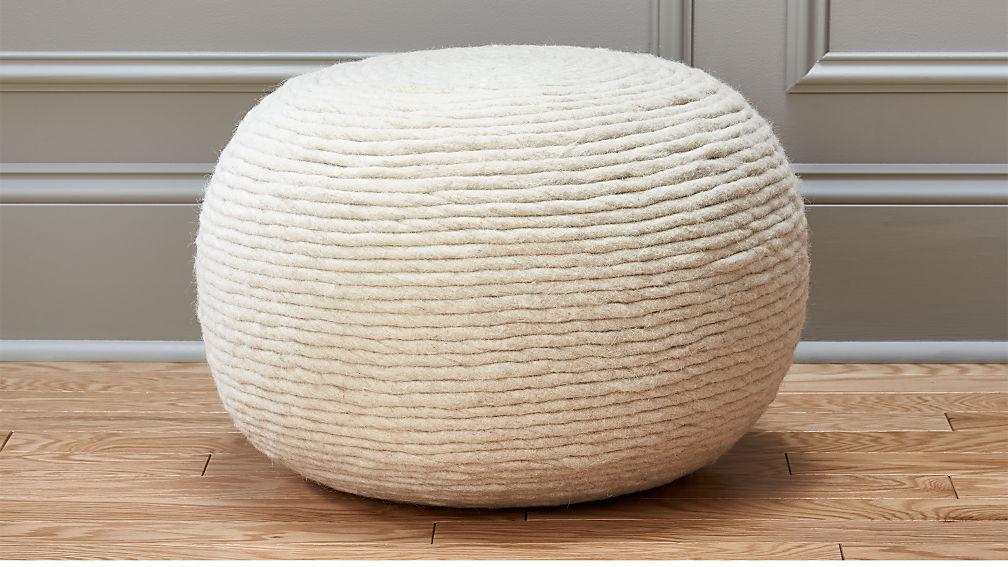 wool wrap pouf