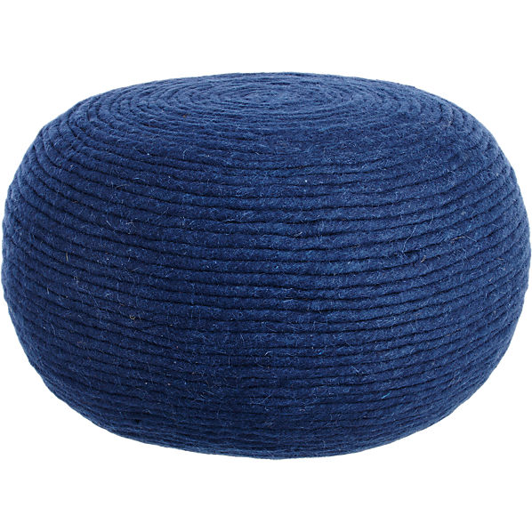 WoolWrapPoufNavyF16