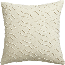 "woolsey ivory 18"" pillow"