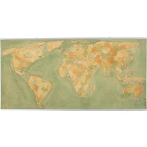 world map painting (sold out)