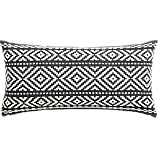 "woven isle 23""x11"" pillow with feather-down insert"
