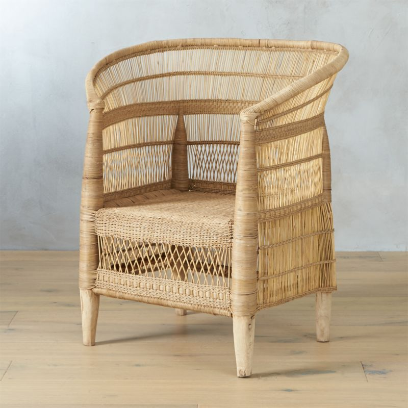 Cb2 Mid Century Coffee Table: Woven Malawi Chair