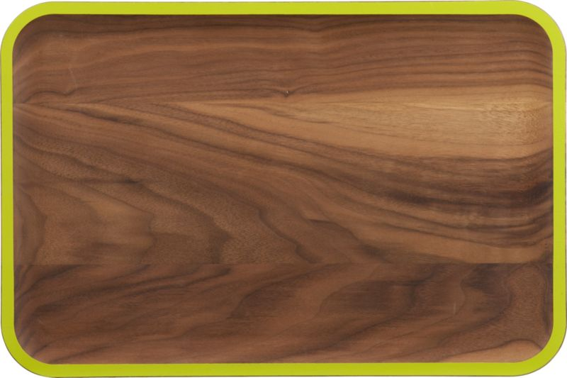 wud green walnut platter