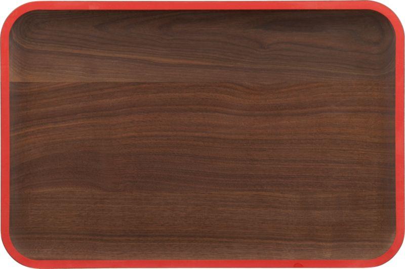wud red walnut platter