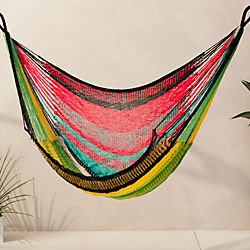 yellow leaf hammock chair
