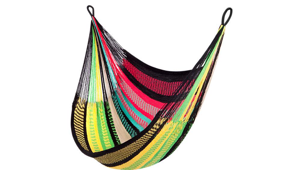 yellow leaf hammock chair