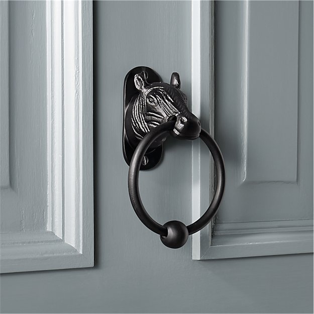 you rang horse door knocker