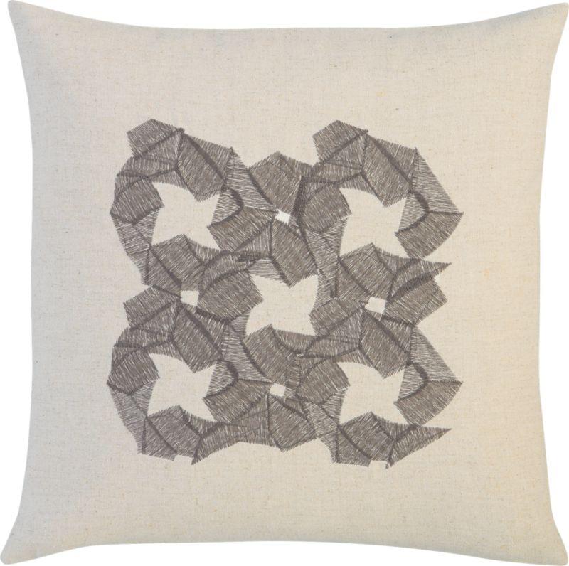 """zen embroidered flower 16"""" pillow"""