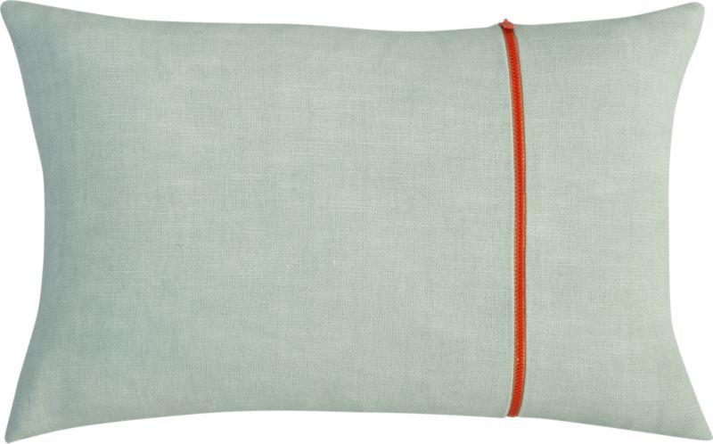 """zipper mint 18""""x12"""" pillow"""