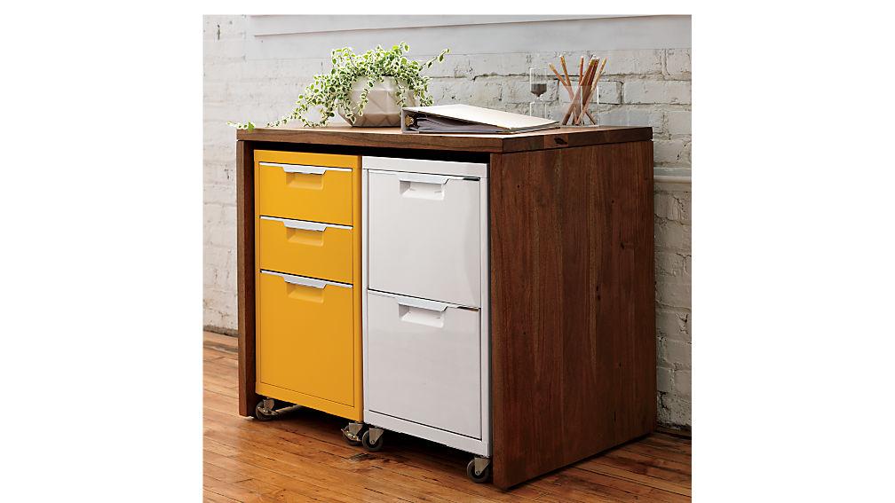 TPS white 2-drawer filing cabinet