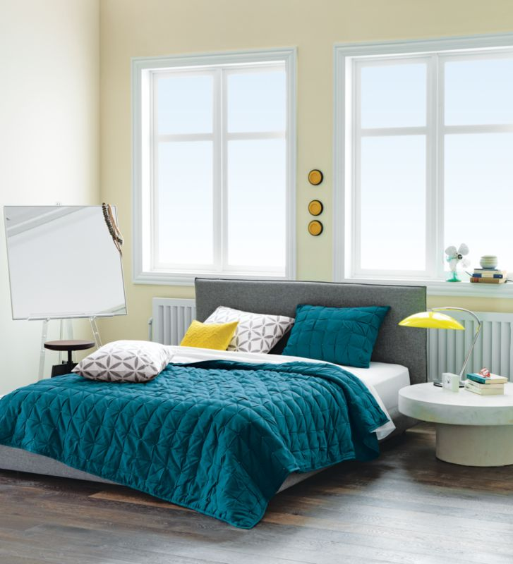 mahalo blue-green bed linens