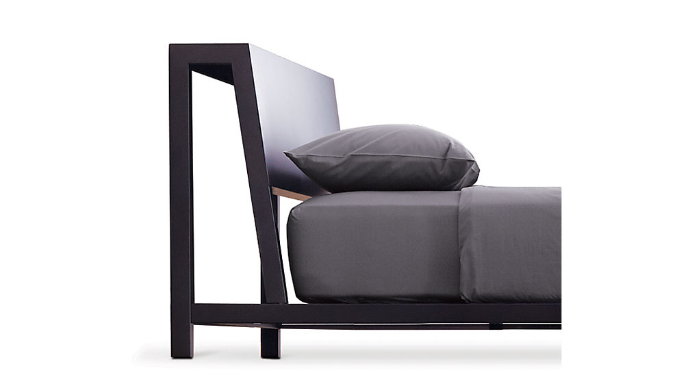 alpine gunmetal king bed