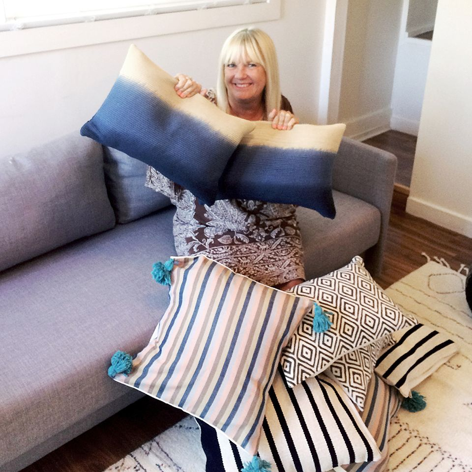 APT CB2 + SF Girl by Bay: Blue Azure Pillow