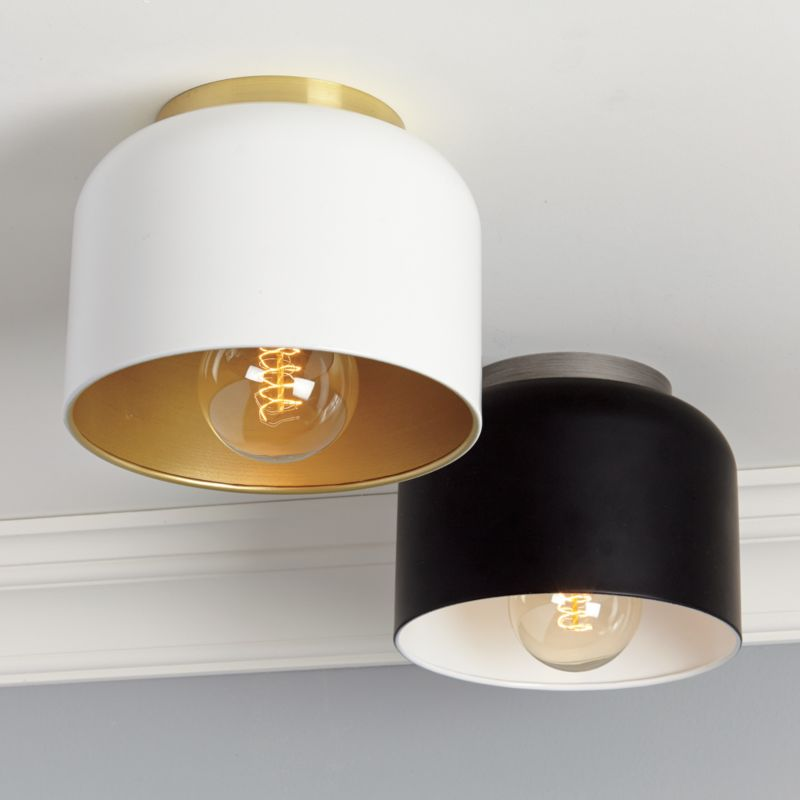 bell black flush mount lamp