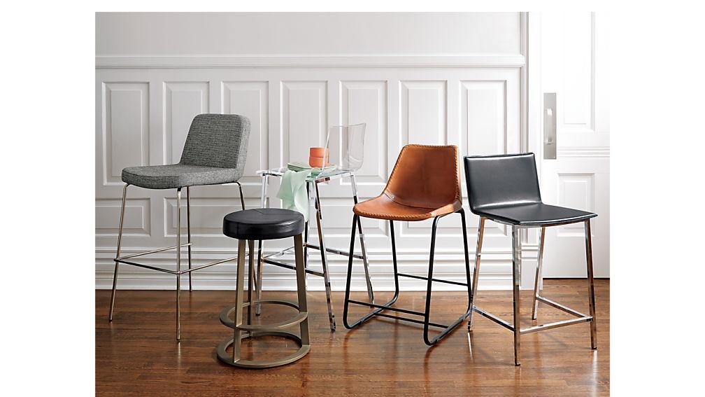 "phoenix carbon grey 24"" counter stool"