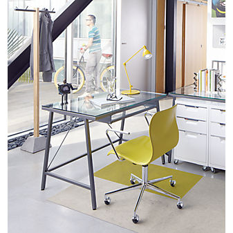 CB2 - bubble chartreuse office chair | Office Accessories | Office Decor