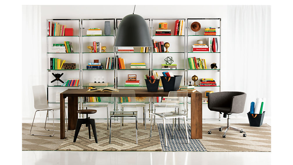 """tesso 84"""" wall mounted bookcase"""