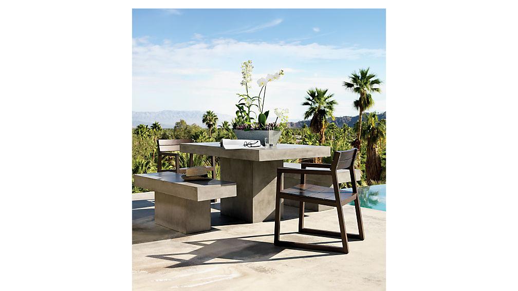 Fuze Grey Dining Table Cb2