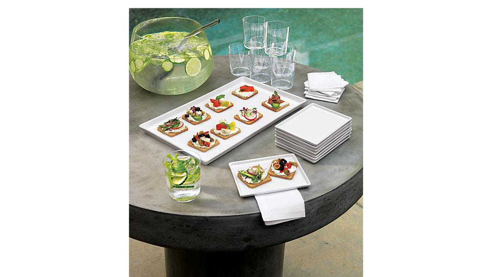 Fuze Grey Bistro Table Cb2