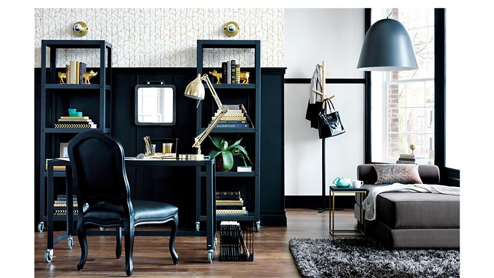 go-cart carbon  five-shelf bookcase