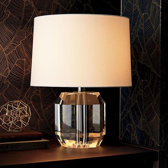 Swanky '40s feel crystal lamp