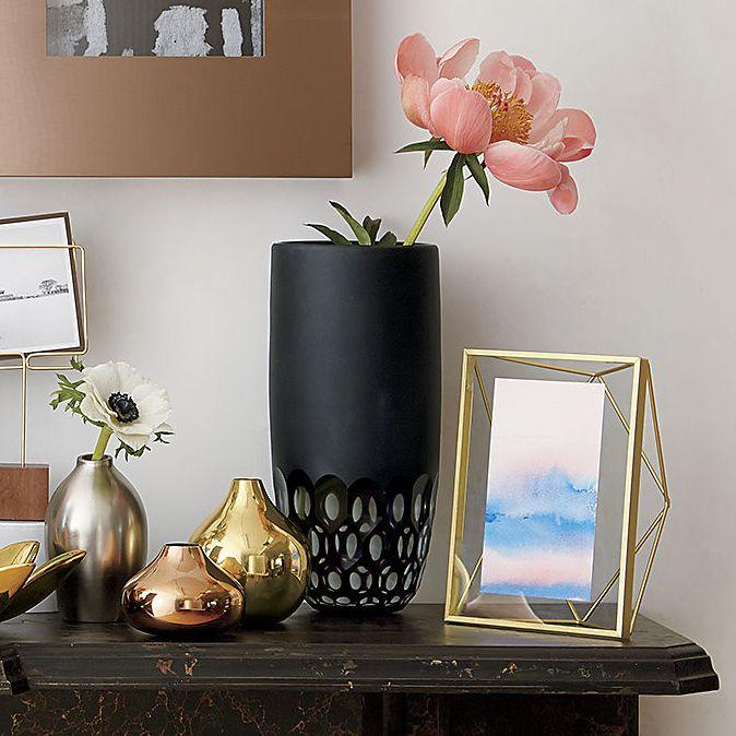 Kaleidoscope glass vase tabletop