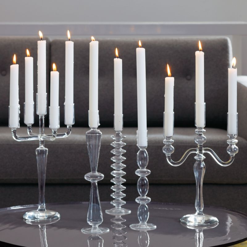 white taper candles set of 12