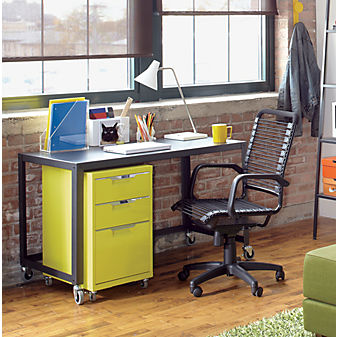 CB2 - TPS chartreuse file cabinet | Office Accessories | Office Decor