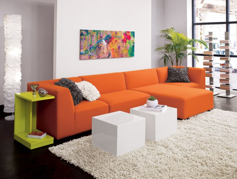 CB2 - mellow orange chaise
