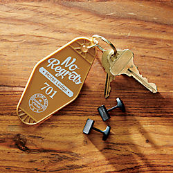 no regrets key chain