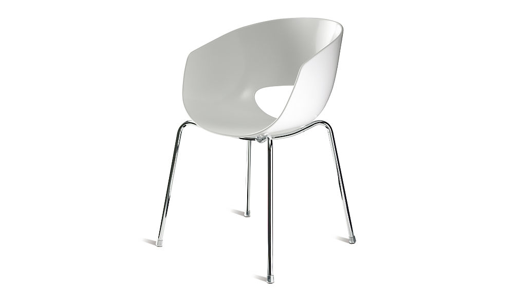 orbit white arm chair