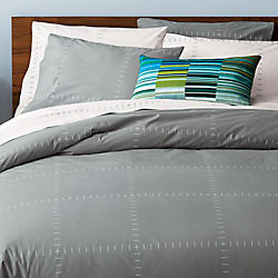 SAIC origin grid bed linens