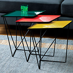 SAIC 3-piece paradox nesting table set