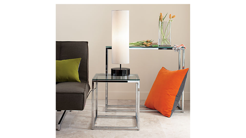 smart glass top side table