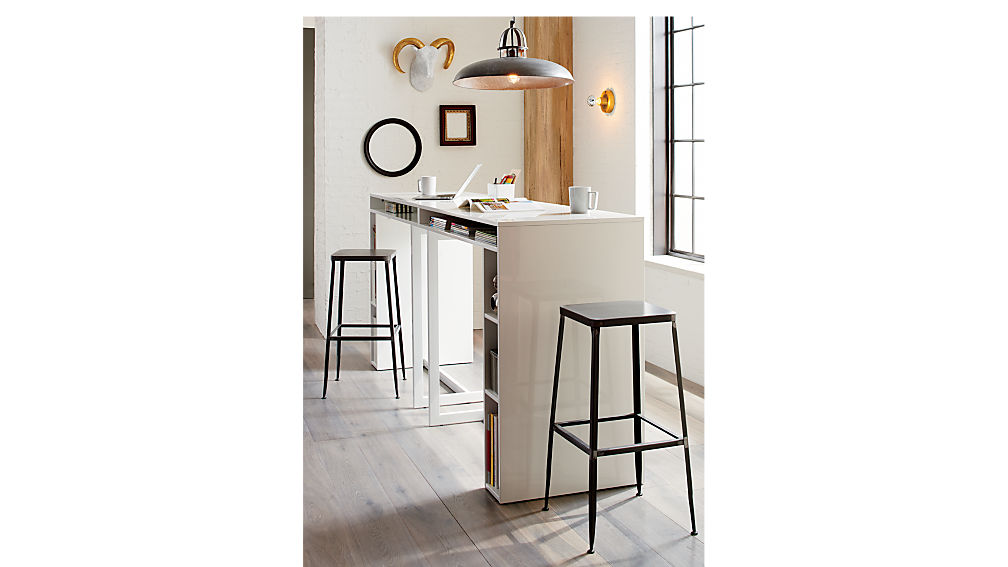 """public white 42"""" high dining table"""