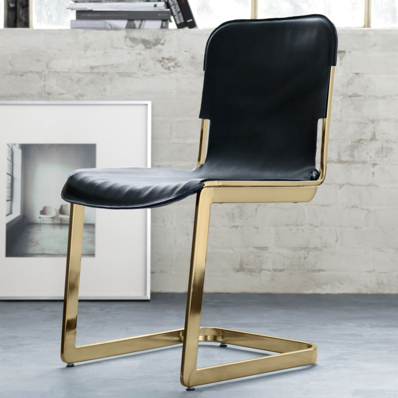 Rake Brass Chair Cb2