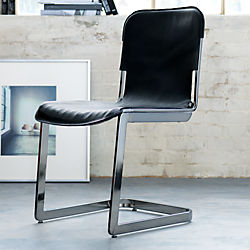 rake black nickel chair