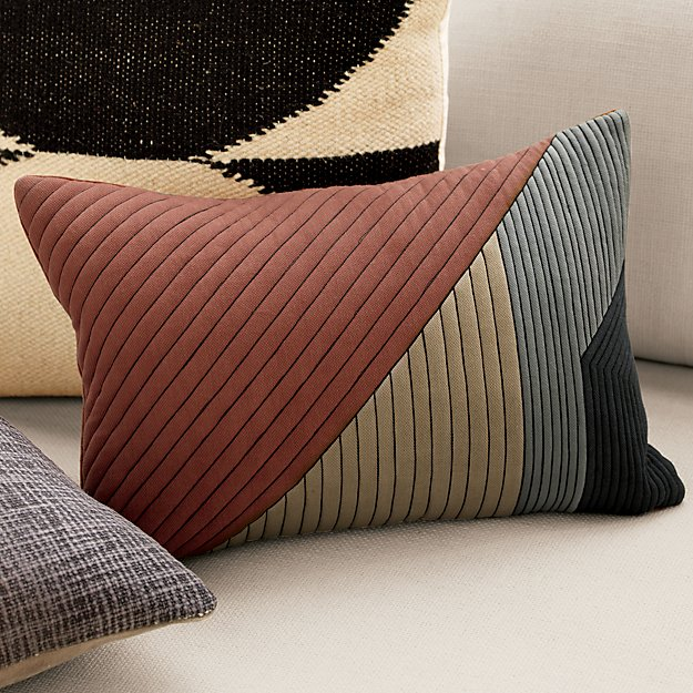 """pata 18""""x12"""" pillow with feather-down insert"""