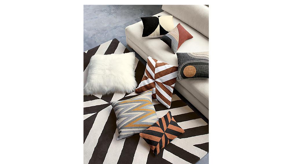 "icelandic sheepskin 24"" pillow-cushion with down-alternative insert"