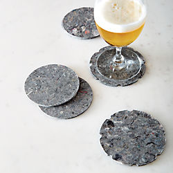 equal denim coasters set of six