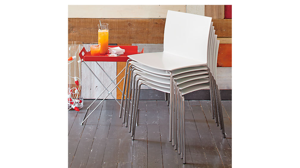 slim white chair