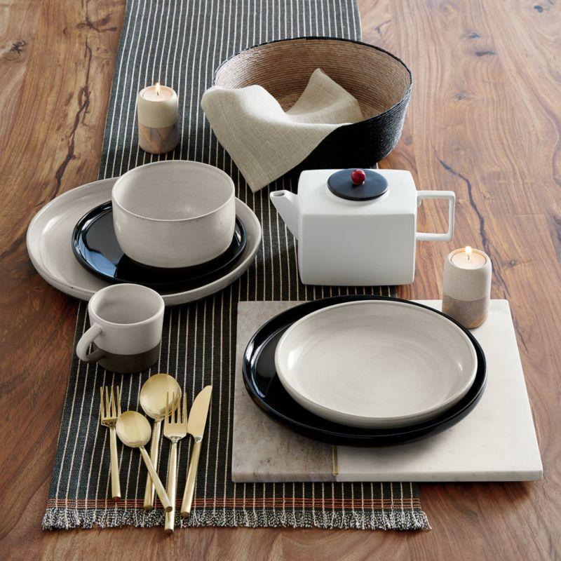 black clay dinnerware