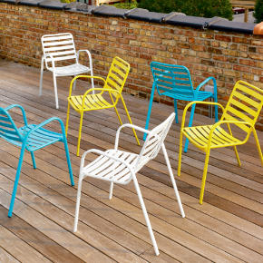 sunny arm chair shopping in CB2 top rated outdoor