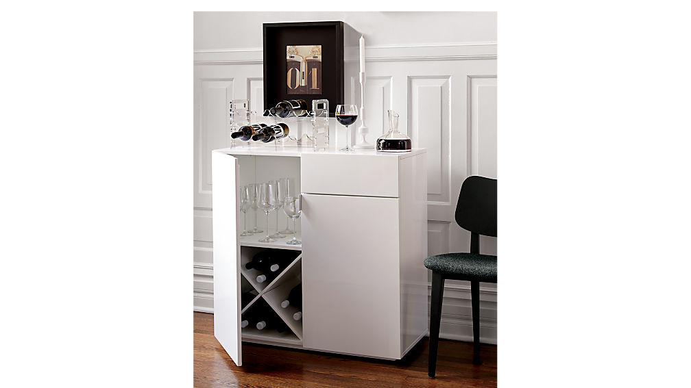 Swig White Mini Bar Cb2