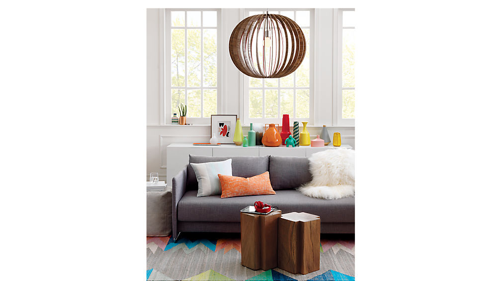 Tandom Grey Sleeper Sofa Begum Grey Cb2