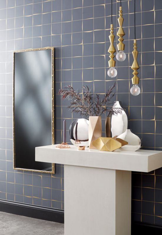 "tork brass dripping 20""x48"" wall mirror"