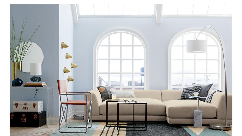 uno cream puff 2-piece sectional sofa